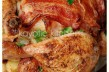 Shallot and Apple Stuffed Bacon Chicken